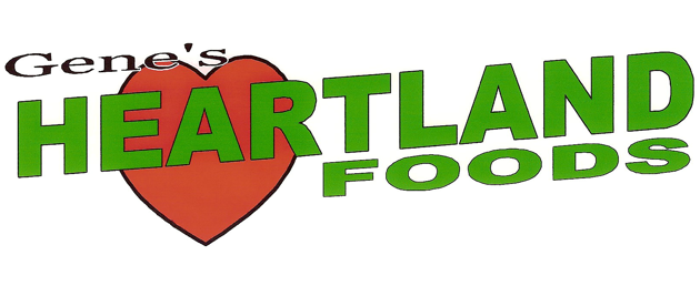 A theme logo of Gene's Heartland Foods